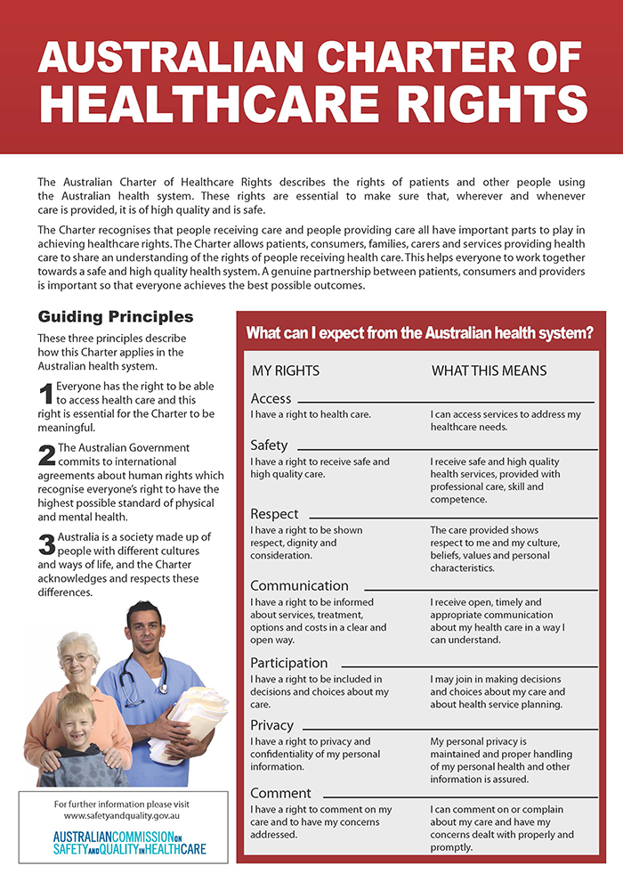 Australian Charter of Healthcare Rights resize